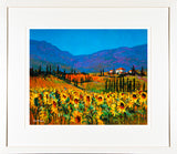 PAinting of SUNFLOWERS - FRAMED print