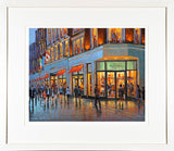 A framed print of a painting of shoppers passing this iconic department store on Dublin's Grafton Street