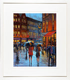 painting of GRAFTON ST LADIES - FRAMED print