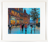 Painting of O'CONNELL STREET PEOPLE - FRAMED  print