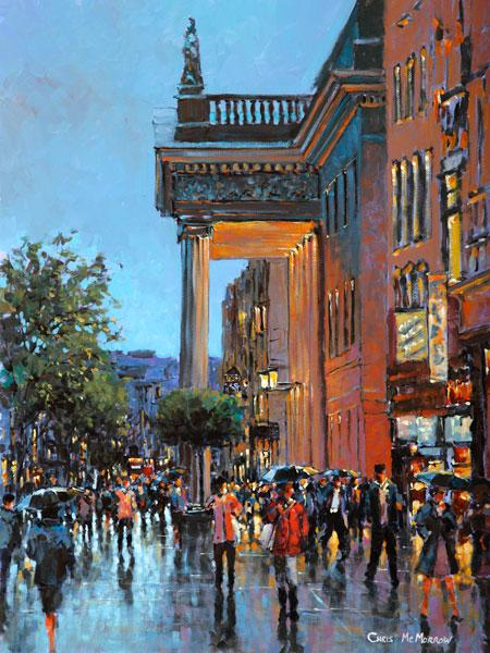 A painting of the GPO on O'Connell Street, Dublin