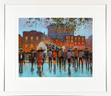 HALFPENNY BRIDGE REFLECTIONS painting - FRAMED print