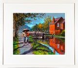 LOVERS WALK  painting - FRAMED print