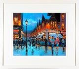 Painting titled OUT ON THE TOWN - FRAMED print