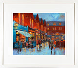 EVENING DINERS castlemarket painting- FRAMED print