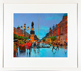 Painting titles O'CONNELL STREET TRAFFIC - FRAMED print