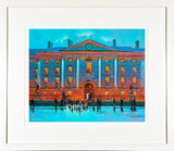 Painting titled OUTSIDE TRINITY - FRAMED print