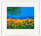 SUMMER DAISIES  painting - FRAMED print