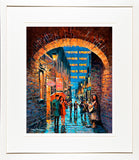 Painting titled the BUSKER MERCHANTS ARCH - FRAMED print