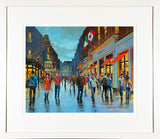 STROLLING ON GRAFTON painting - FRAMED print