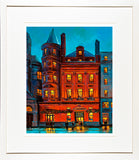 THE BANK PUB painting - FRAMED print