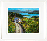 COTTAGE BY THE LAKE - FRAMED print