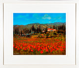 Painting titled POPPIES, TUSCANY - FRAMED print