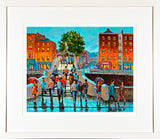 ON THE HALFPENNY BRIDGE, dublin - FRAMED print