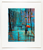 LOVERS MONTMARTRE , Paris - FRAMED print