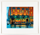 A print of a painting of The Hairy Lemon Pub on Stephen Street, Dublin