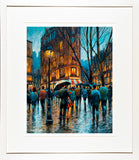 A print of the romantic Parisien painting Let's Dance framed