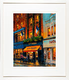 A limited edition print in a frame of the painting of the French style café Le Petit Parisien in Dublin, Ireland
