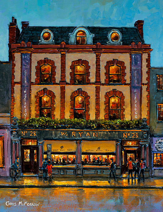 Painting of Ryans Pub on Parkgate Street, Dublin