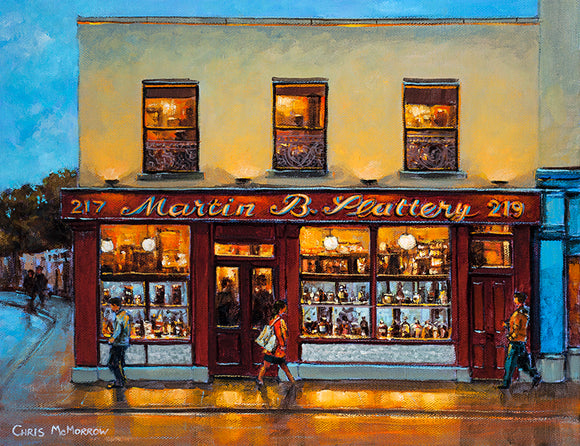 An acrylic painting of Martin B. Slatterys Pub in Rathmines, Dublin