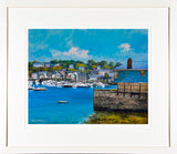 Framed print of the boats at rest in Kinsale Harbour, County Cork