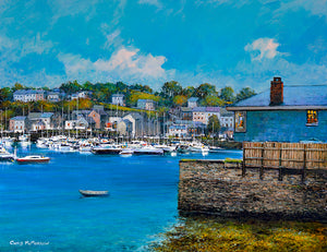 PAinting of a tranquil Kinsale Harbour in Cork
