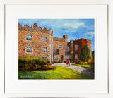 A framed print of a painting of Waterford Castle, Co Waterford