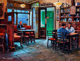 Painting of the interior of the Celt Pub in Talbot Street, Dublin