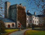 Painting of Barberstown Castle Hotel in Straffan, Co. Kildare
