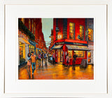 Print of a painting of the Bankers Bar near Dame Street, Dublin
