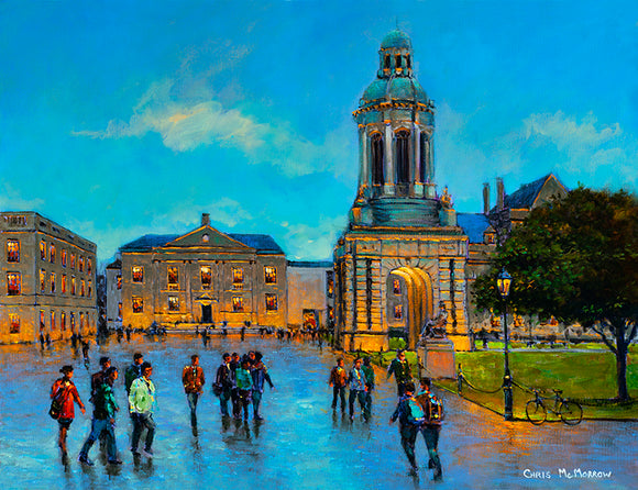 PAinting of PArliament Square in Trinity College, Dublin