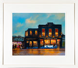 Framed print of the Bernard Shaw Pub and Eatyard, Portobello, Dublin