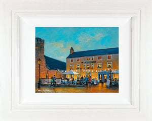 Original acrylic painting of the Queens BAr in Dalkey , Co. Dublin