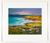 painting of LAHINCH , co clare - FRAMED print