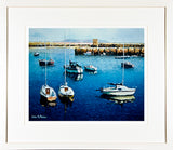 Painting titled SAILBOATS - FRAMED print