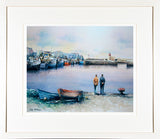PAinting of a SOFT DAY HOWTH - FRAMED print