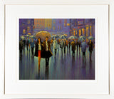 Painting titled THE NIGHT IS YOUNG - FRAMED print