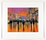 Painting titled O'CONNELL STREET GLOW - FRAMED print