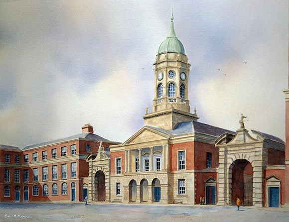Watercolour painting of Dublin Castle