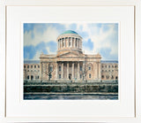 Framed limited edition print of the Four Courts building from the opposite banks of the River Liffey