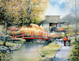 Watercolour painting of the Japanese Gardens in Co. Kildare