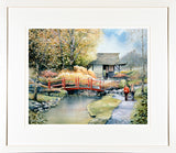 Framed print of the Japanese Gardens, Tully, Co Kildare