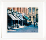 Limited edition framed print of cafe's in Castlemarket Dublin