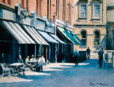 Watercolour painting of a sunny afternoon in Castlemarket, Dublin city