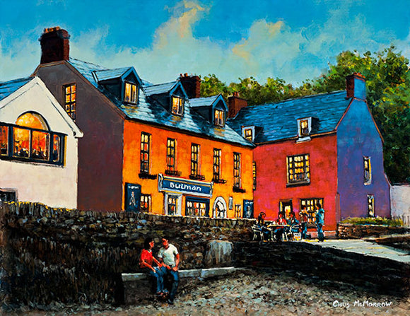 A painting of The Bulman Bar, Kinsale, Co Cork