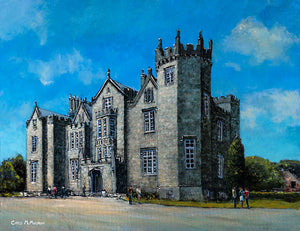 An acrylic painting of Kinnity Castle, Birr, Co. Offaly