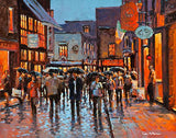 A painting of the reflections on the cobblestones in Crown Alley, Temple Bar
