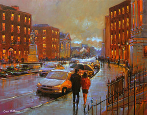 A painting of the Crescent view, Limerick