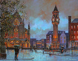A painting of Baker Place and Taits Clock, Limerick
