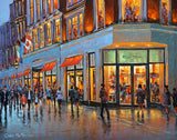 A painting of Brown Thomas store on Grafton Street, Dublin.